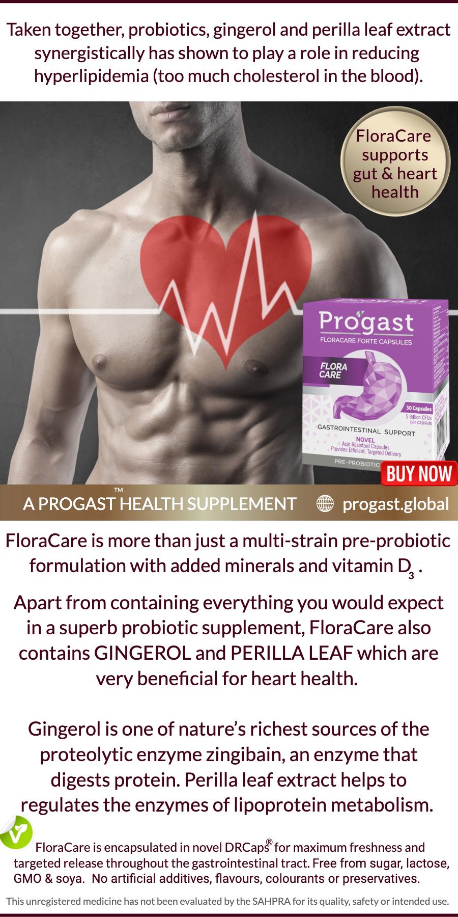 heart statins FloraCare advert