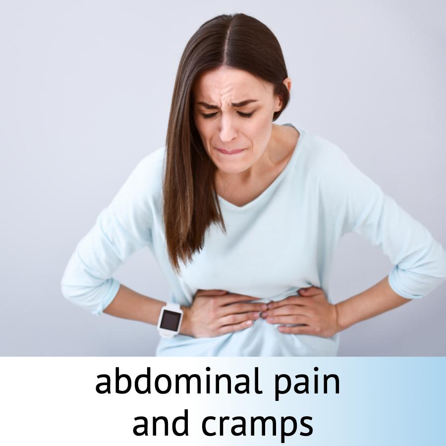 Progast Drops Product Review woman stomach pain