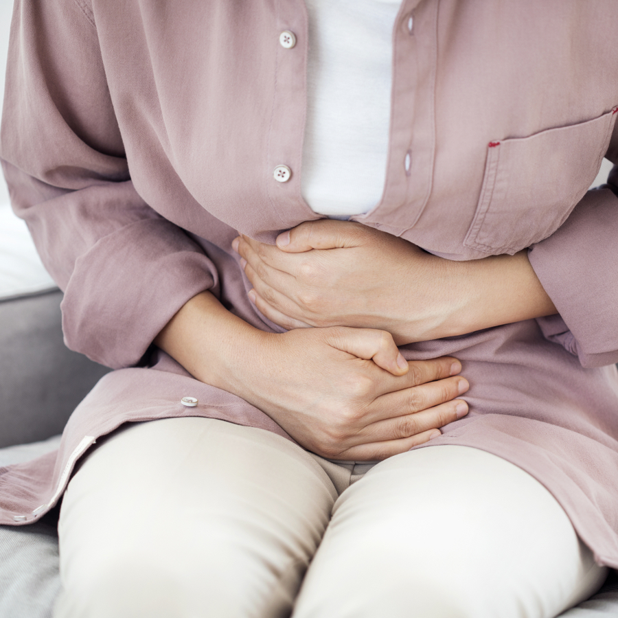 Natural Solutions to IBS woman pain