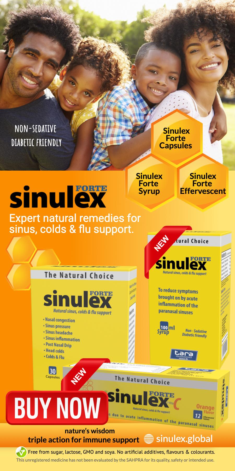 Sinulex sinusitis colds flu