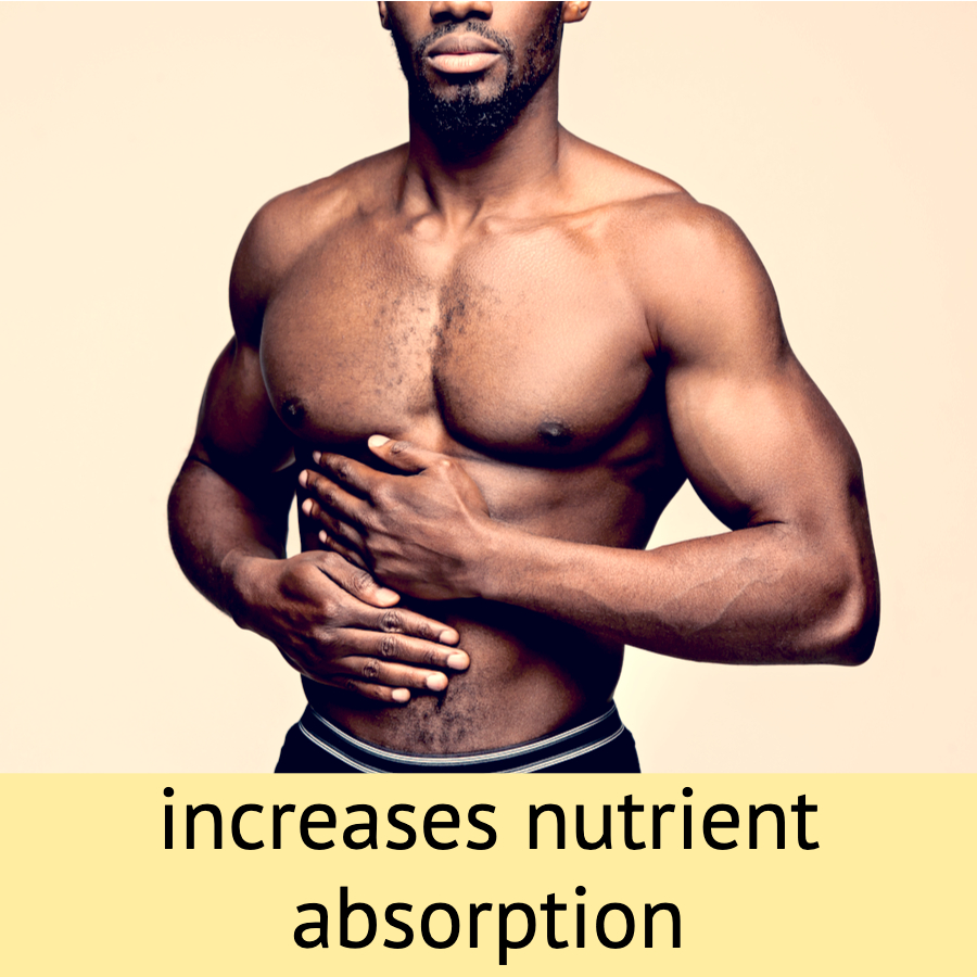 increases nutrient absorption athletic man