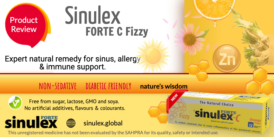 Sinulex Fizzy product review web advert
