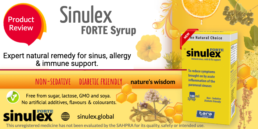 Sinulex Syrup product review web advert