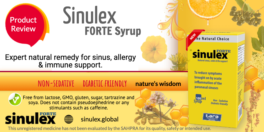 Sinulex Syrup product review web advert Sinulex Syrup product review web advert