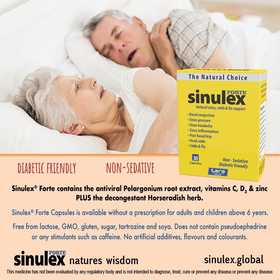 Sinulex Caps snoring advert
